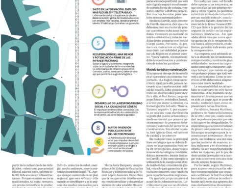 Nuestro socio, Juan Bernal, analiza el futuro de la economía murciana en la era post-covid